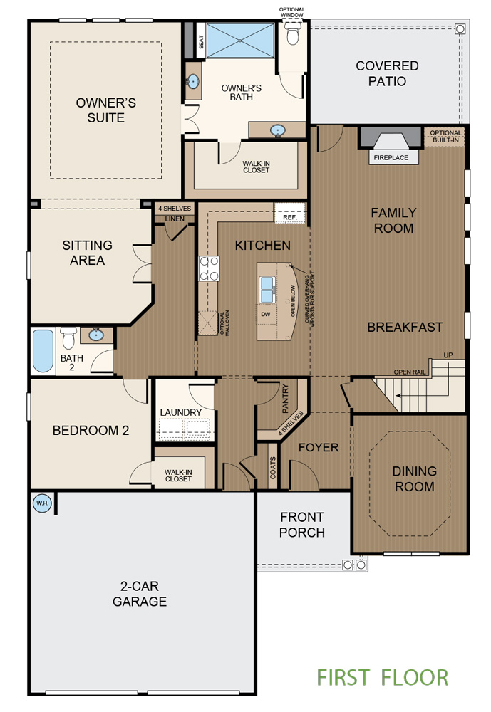 Taylor Morrison Floorplan First Floor