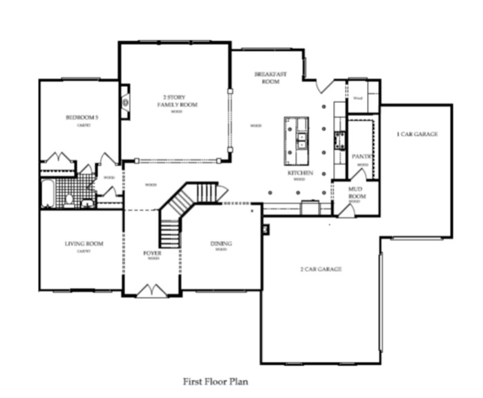 Harcrest Homes Weston Model - Floorplan first floor