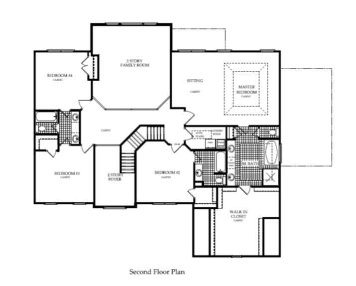 Harcrest Homes Weston Model -Second Floor