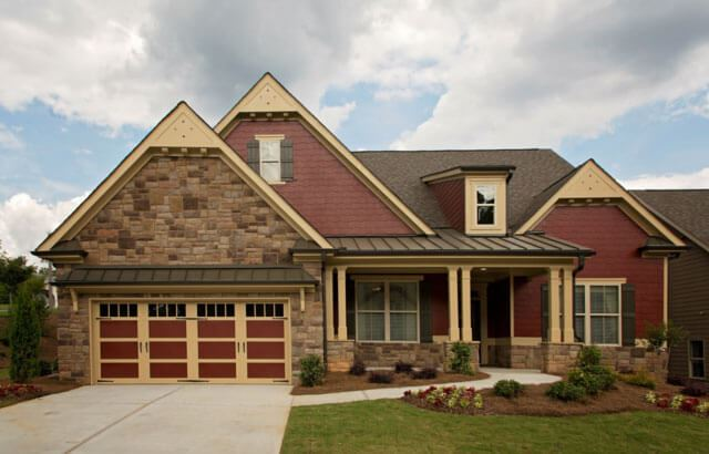 Vanderbilt Homes ranch style model home in Sterling on the Lake community.