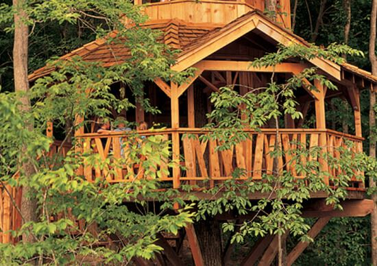 Kids three story tree house at Sterling on the Lake