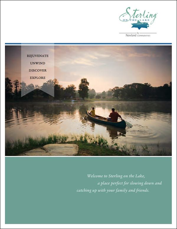 Cover of Sterling on the Lake community brochure.