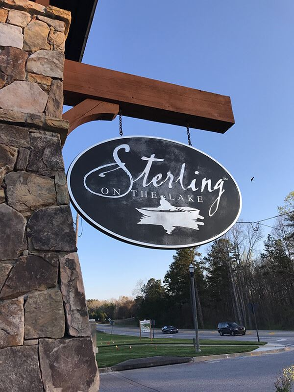 Sterling on the Lake Welcome Center sign