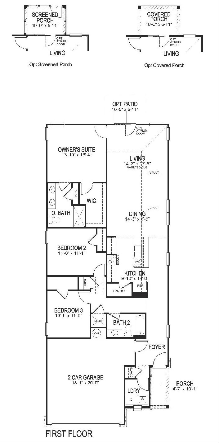 DR Horton - Berkley - Floor Plan