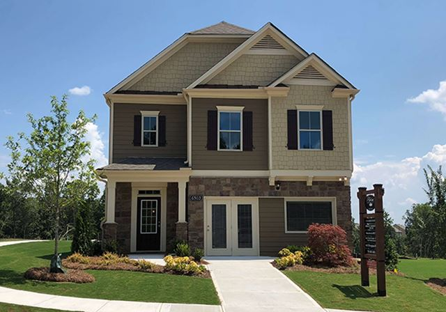 D.R. Horton Woodstock two story model home in Sterling on the Lake