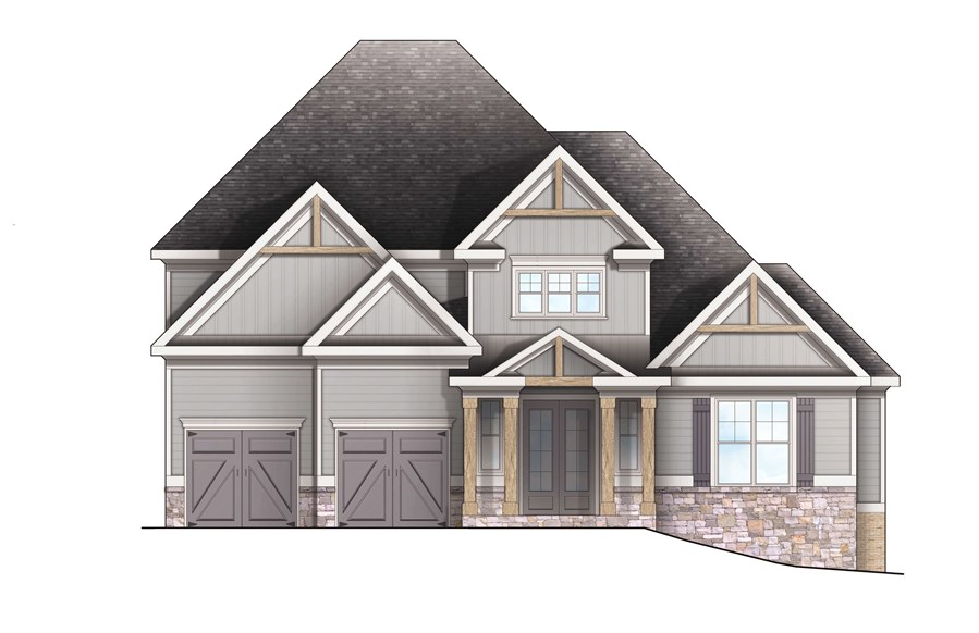 Harcrest Homes - Highlands - Elevation A