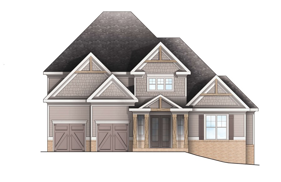 Harcrest Homes - Highlands - Elevation B