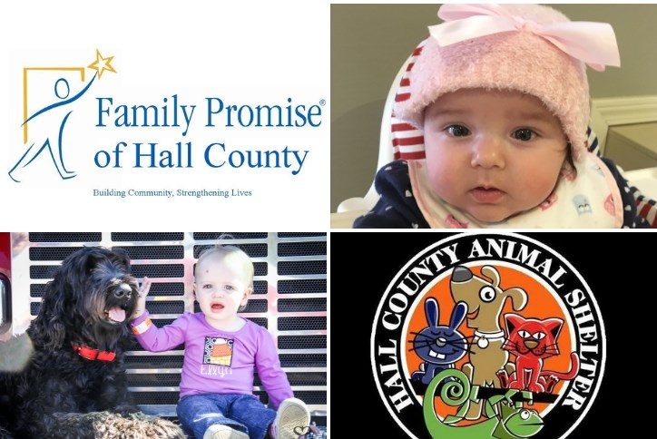 Family Promise of Hall County logo and Hall County Animal Shelter logo