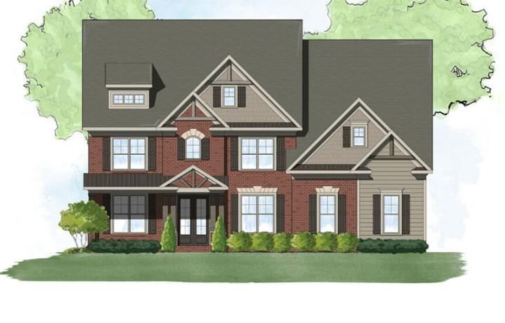 Harcrest Homes Waterstone Model - Exterior Elevation B