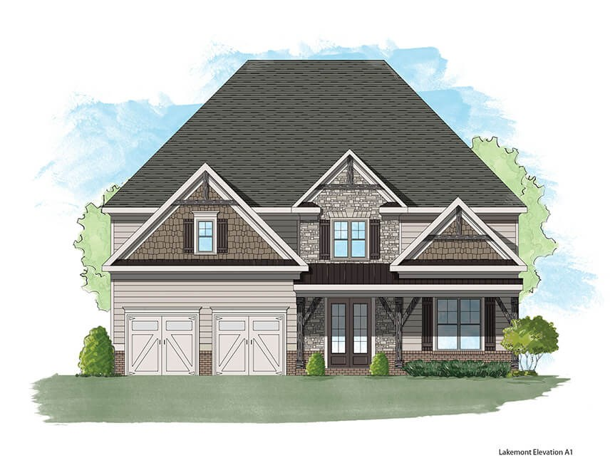 Harcrest Homes Lakemont model elevation A