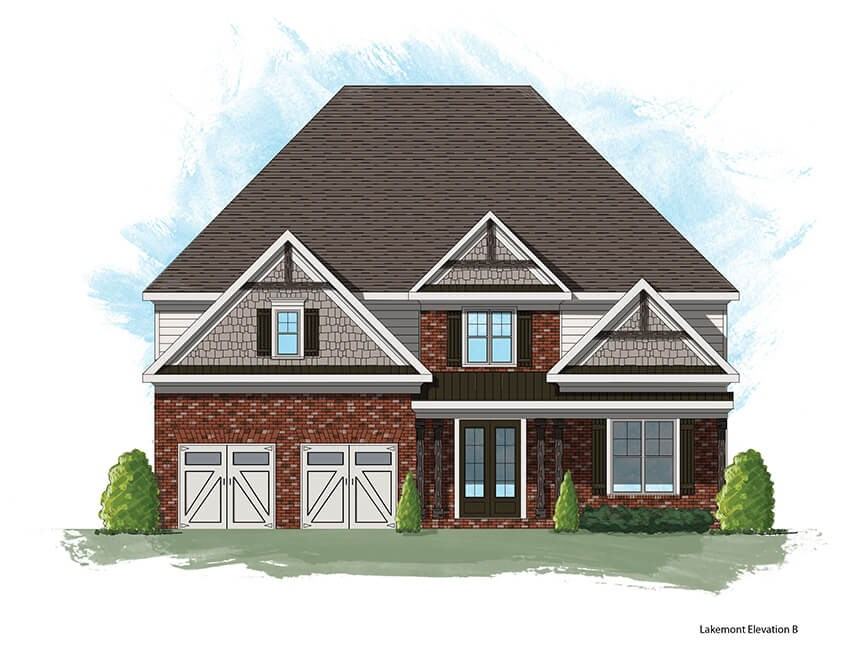 Harcrest Homes Lakemont model elevation B