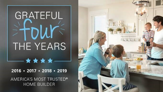 Taylor Morrison Most Trusted Builder Four Years in a Row!