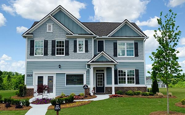 Two-story model home in the Creekside in Sterling on the Lake.