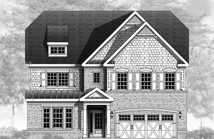 Vanderbilt Homes, Tuscany Floorplan, Elevation A in The Enclave