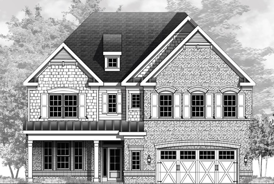 Vanderbilt Homes Fieldstone Floorplan Elevation A in The Enclave