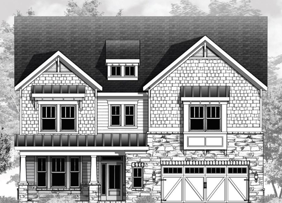 Vanderbilt Homes Fieldstone Floorplan Elevation B in The Enclave