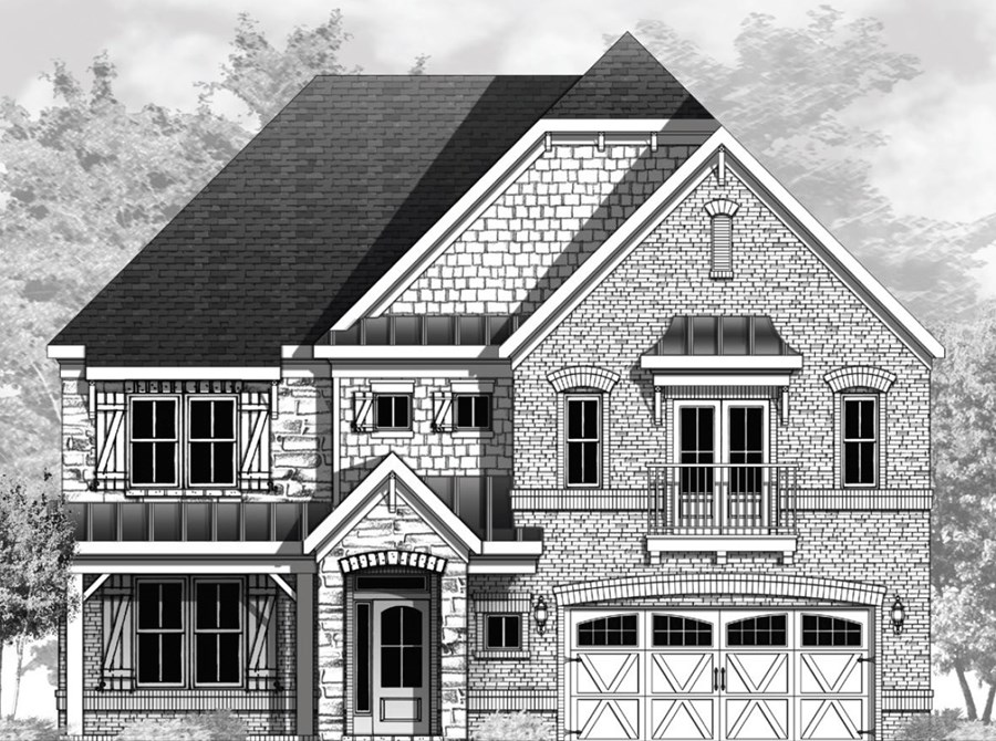 Vanderbilt Homes Fieldstone Floorplan Elevation C in The Enclave