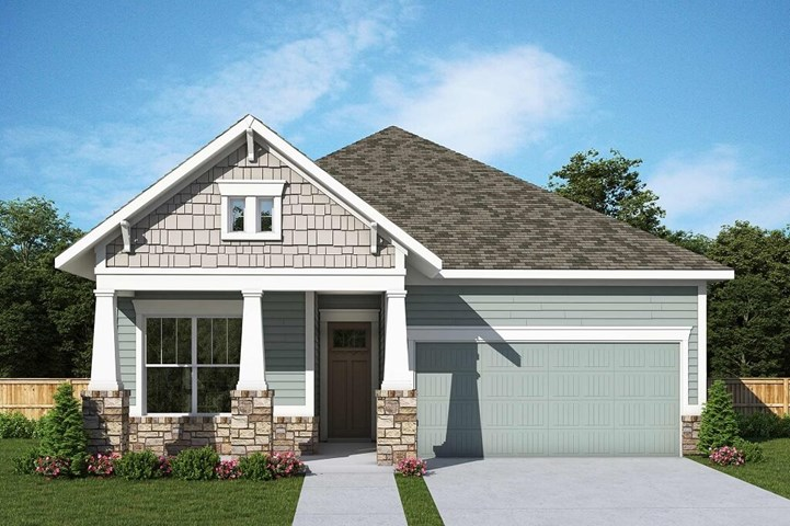 David Weekley Homes Elkwood floorplan Elevation A in The Retreat at Sterling on the Lake