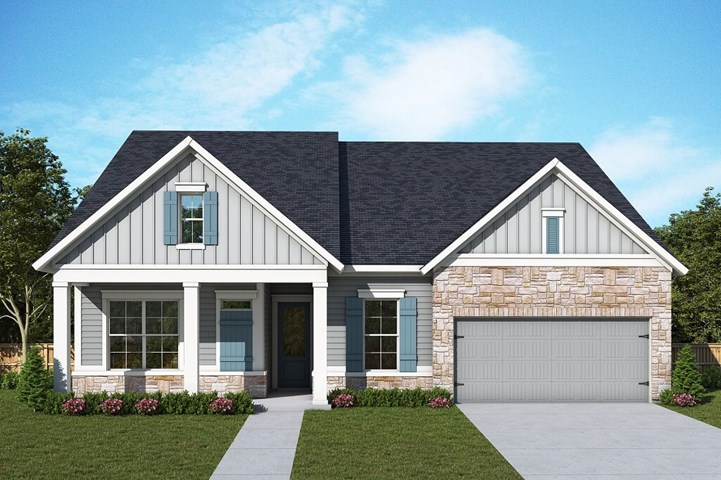 David Weekley Homes Freeman floorplan Elevation A in The Retreat at Sterling on the Lake
