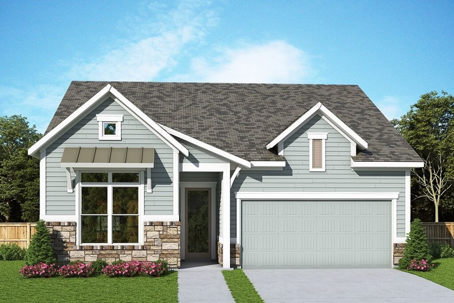 David Weekley Homes Gilmore floorplan Elevation B in The Retreat at Sterling on the Lake