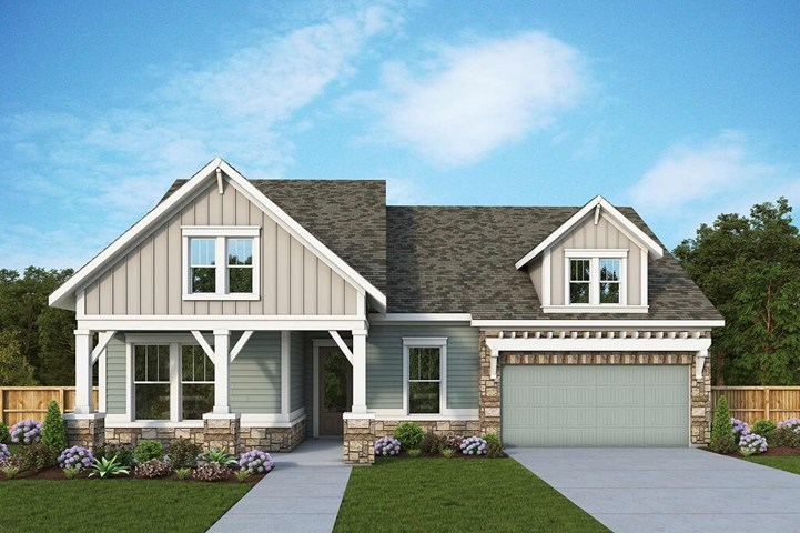 David Weekley Homes Henshaw floorplan Elevation B in The Retreat at Sterling on the Lake