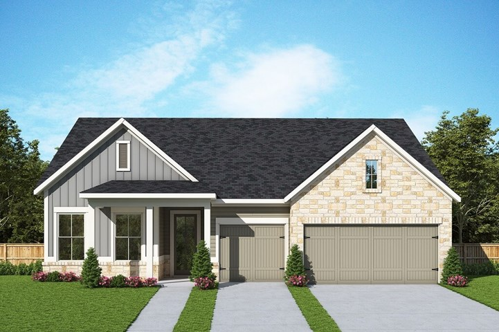 David Weekley Homes Meadowhill floorplan Elevation B in The Retreat at Sterling on the Lake