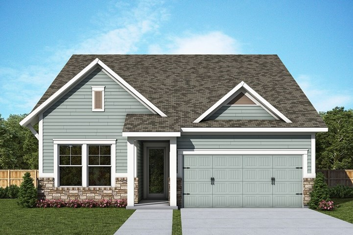 David Weekley Homes Palomina floorplan Elevation D in The Retreat at Sterling on the Lake