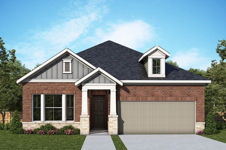 David Weekley Homes Palomina floorplan Elevation C in The Retreat at Sterling on the Lake
