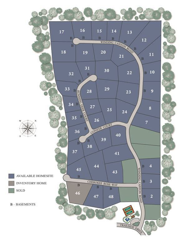 The Preserve at Sterling on the Lake site plan.